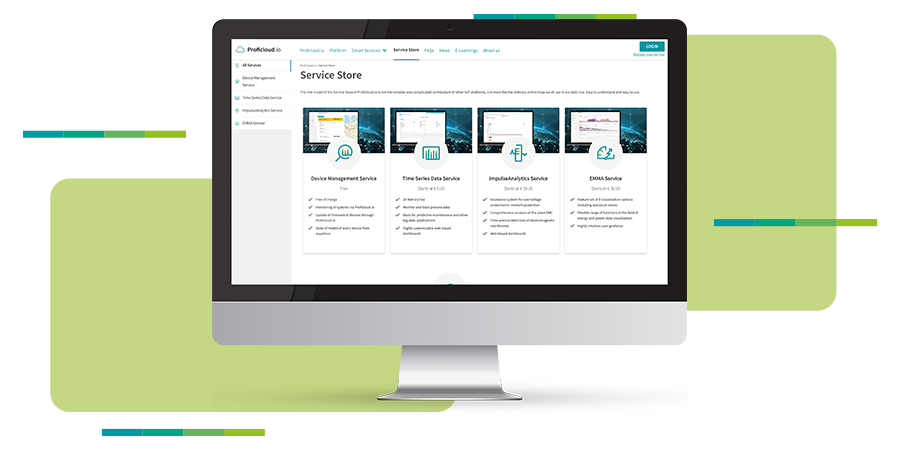 Online now! The Service Store on Proficloud.io