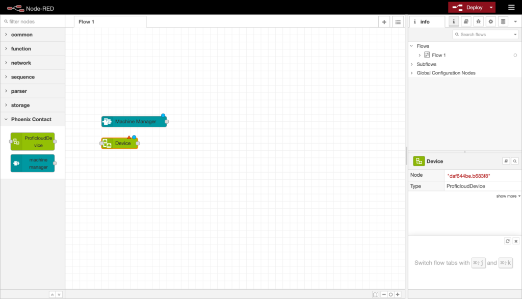 Place the new nodes on the workspace via Drag and Drop.